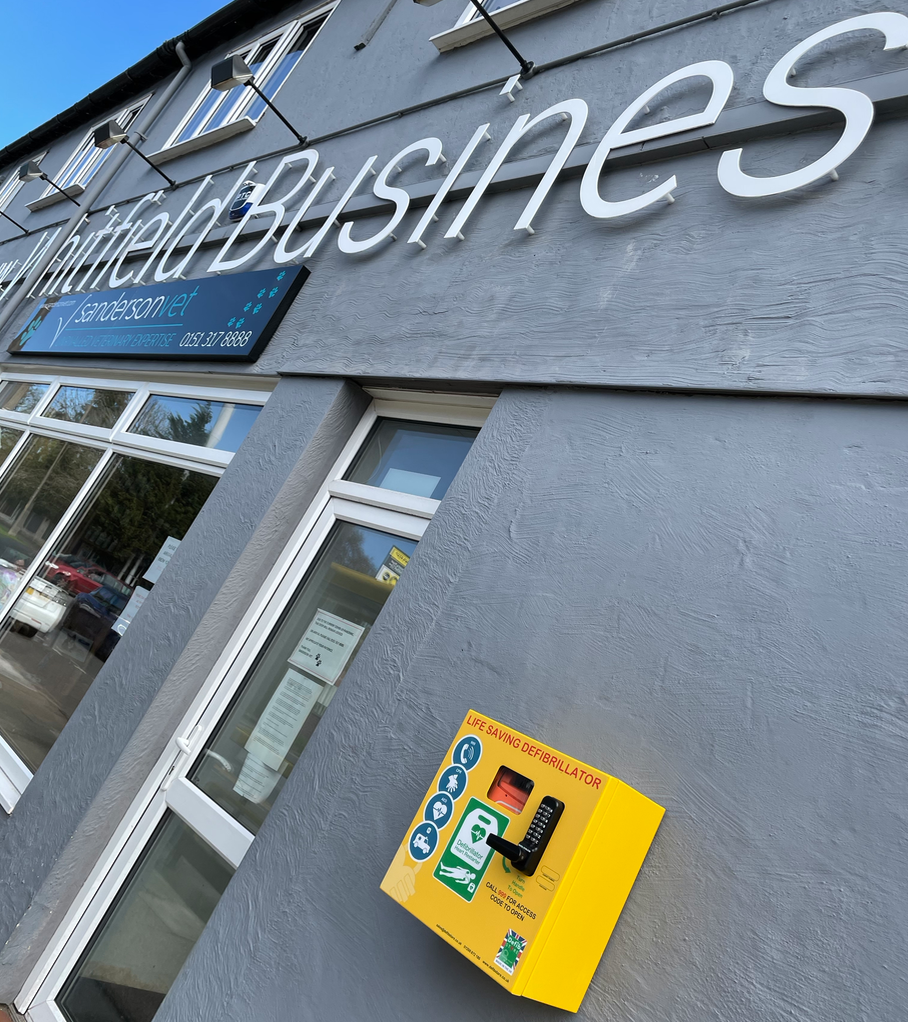 Heswall business centre whitfield defibrillator